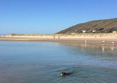 Playing in the Pools, Aberdovey Beach