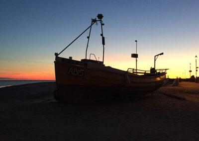 Fishing Boat at Sunset, Aberdovey