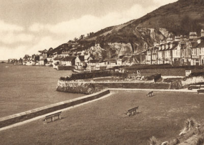 Black and white photo - Aberdovey from Penhelig Gardens