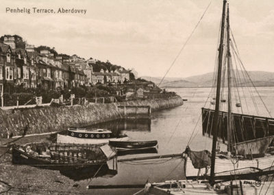 Black and white photo - Penhelig Terrace and Harbour, Aberdovey