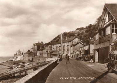 Black and white photo - Cliffside, Aberdovey