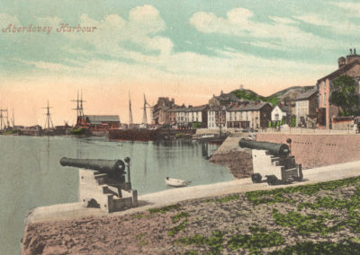 Hand coloured photo - Aberdovey Harbour from the east