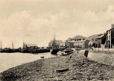 Black and white photo - The Harbour, Aberdyfi