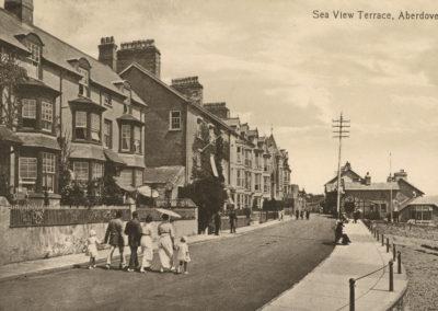 Black and white photo - Sea View Terrace, Aberdovey