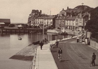 Black and white photo - The Promenade, Aberdyfi