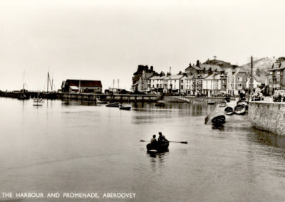 Black and white photo - The Harbour and Promenade, Aberdyfi