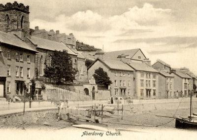 Black and white photo - Aberdyfi Church
