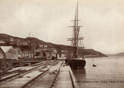 Black and white photo - Aberdyfi, View from Pier