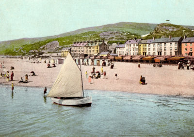 Hand coloured photo - Aberdyfi, The Sands from Pier