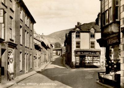 Black and white photo - Copperhill Street, Aberdovey