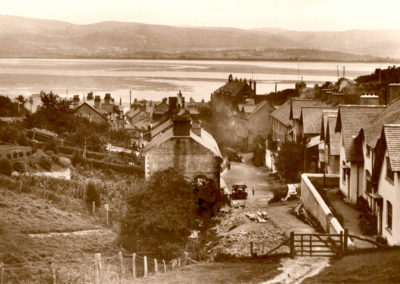 Black and white photo - Aberdovey from Ty Newydd