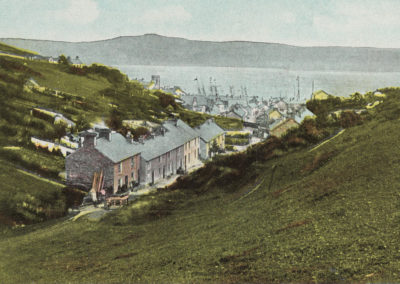 Hand coloured photo - Aberdovey, View from Copperhill Street