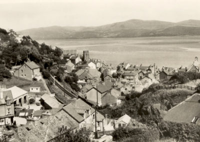 Black and white photo - Aberdovey, View from Bryniau Uchaf