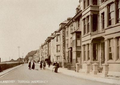 Black and white photo - Glandovey Terrace, Aberdovey