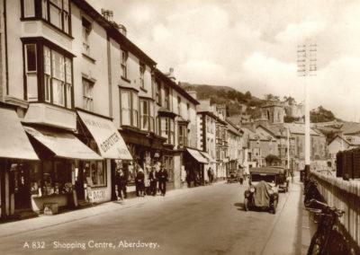 Black and white photo - Shopping Centre, Aberdovey