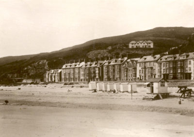 Black and white photo - The Sands, Aberdovey