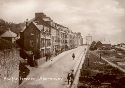 Black and white photo - Bodfor Terrace, Aberdovey
