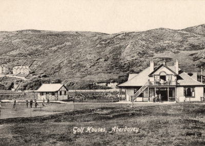 Black and white photo - Golf Houses, Aberdyfi Golf Course