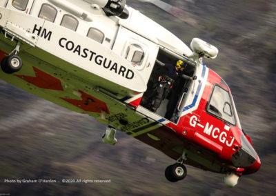 Aberdovey Search & Rescue Team (SaRT), HM Coastguard Helicopter - Photo by Graham O'Hanlon ©2020