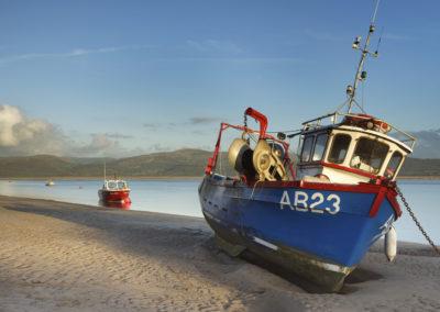 Fishing Boat on Aberdovey Beach