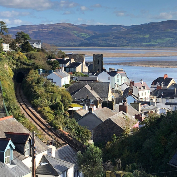 Photo of Aberdovey and Dyfi estuary looking south east from footpath off Copperhill Street